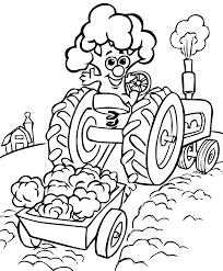 Coloriage De Tracteur Agricole A Imprimer 100 Images Dessin