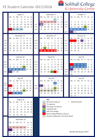 Term Dates Solihull College University Centre