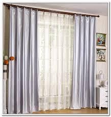 image of sliding door curtains decorating ideas