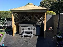 wooden gazebo hot tub shelter includes assembly no extras