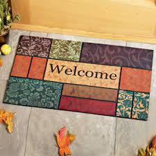 colorful welcome mat. Unique Colorful Colorful Welcome Door Mat Intended F
