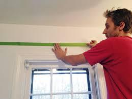 color and trim to a bathroom ceiling
