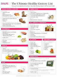 basic grocery shopping list healthy foods to buy healthy grocery list shape magazine