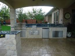 Summer Kitchen & Fire Pit eclectic-patio