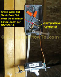 how to wire an attic electrical outlet and light old toggle switch wiring ground conductors are too short