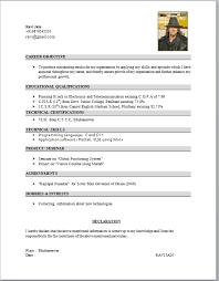 Vlsi Resume Format Under Fontanacountryinn Com