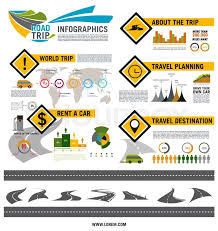 Road Trip Infographic Template Road Stock Vector Colourbox