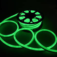 Flexible Neon Led Rope Lights 50 Ft 110v Green Flexible Led Neon Rope Light Indoor Outdoor Holiday