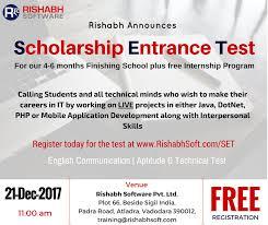 Career Test Free Interesting LearnAtRISE Rishabh's Career Development Scholarship Entrance Test