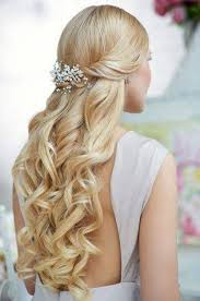 Curly Wedding Hairstyles Half Up Half Down Margusriga Baby Party