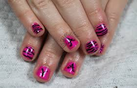 pink and black nail design for kids | Trendy Mods.Com