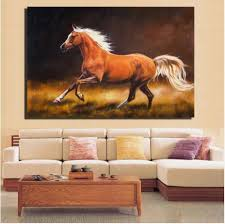 Cheap Horse Posters 2019 Horse Canvas Paintings Impressionist Galloping Brown Horse Posters And Prints For Living Room Wall Horse Home Pictures From Portraitcustom 8 3
