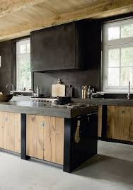 modern rustic kitchens. Interesting Rustic A Modern Rustic Kitchen By The Style Files Via Flickr Loving  Concrete Bench Tops Polished Floor And A Whole Lotta Wood To Add Warmth  And Modern Rustic Kitchens E