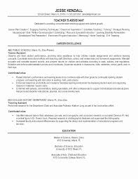 Teacher Aide Resume No Experience Fresh Teaching Assistant