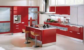 15 contemporary kitchen designs with red cabinets rilane stunning red and white kitchen cabinets