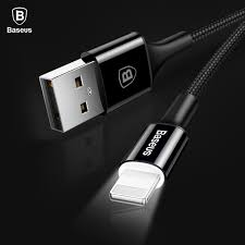 baseus led lighting charger cable for iphone x 8 7 usb cable for iphone ipad fast