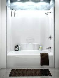 acrylic shower stalls clocks amazing fiberglass showers one piece white wall vs ac