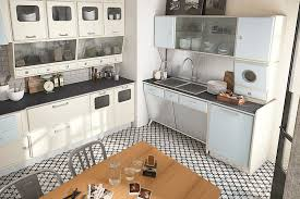 View in gallery Fifties style kitchen with modern appliances