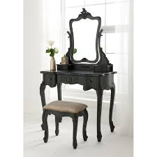 interior black wooden vanity with antique black bedroom furniture