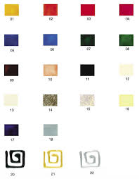 Artistick Peelable Glass Paint Information Colour Chart