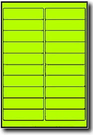 Avery 5261 Template 400 Fluorescent Neon Yellow Laser Only Labels 4 X 1 Inch 20 Sheets Use Avery 5261 Template