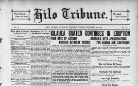 Newspaper FileKilauea Volcano Eruption Newspaper Pagejpg Wikimedia Commons 9