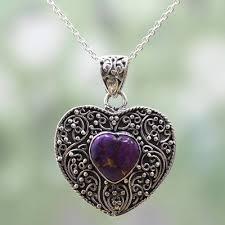 silver purple composite turquoise