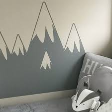mountain wall sticker made in
