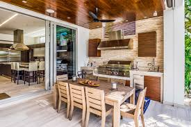 tiny size of an outdoor kitchen doesn t mean you can t dine there