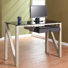 ikea computer desks small spaces home. Dazzling Ikea Glass Office Desk Furniture Ideas With Rectangle Contemporary  Clear And Chrome Side Computer Desks Small Spaces Home A