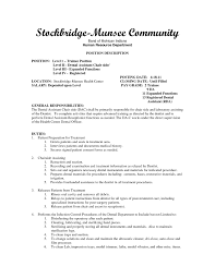 Dental Assistant Objective For Resume Effective Stockbridge Munsee