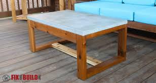 diy outdoor table. DIY Concrete Top Outdoor Coffee Table Diy