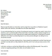 Resignation Letter Example With 2 Weeks Notice Resignation