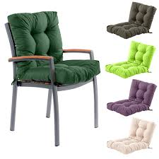 outdoor garden chair tufted seat high