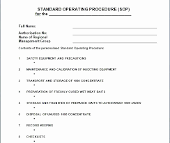 standard operating procedure template word free excel invoice templates awesome receipt template excel