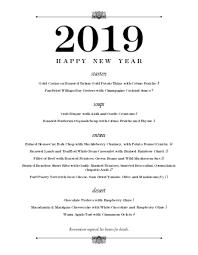 New Year Menu New Years Eve Dinner Menu Design Templates By Musthavemenus