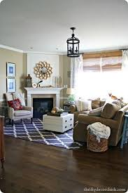 Living Room Rug Placement Enchanting Family Room Colors And Style Rug Placement Like The Storage Table