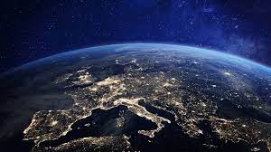 Earth At Night From Space, Europe, City ...