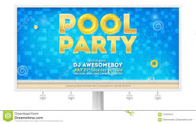 Design A Billboard Online Free Summer Party In Swimming Pool Billboard With Invitation And