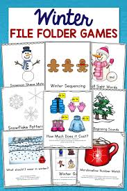 Low Prep Winter File Folder Games Set Of 10 Activities Mamas