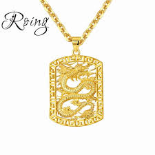 whole new fashion dragon statement necklace for men chain jewelry gold color stainless steel animal necklaces pendants jewelry 685 pendant necklaces