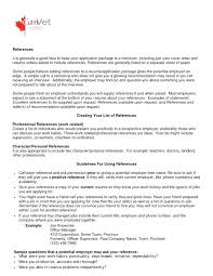 Personal Appropriate References Character Examples Letter Of