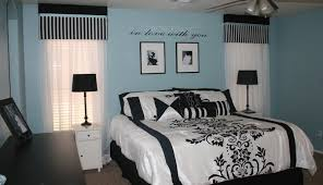 Blue Black And White Bedroom