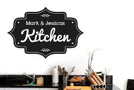 personalised kitchen vintage sign wall stickers uk art decals