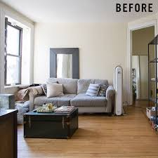 small scale furniture for apartments. before after justinu0027s revamped nyc living room west elm small scale furniture for apartments u