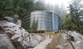 remote construction of cst ground water storage tanks
