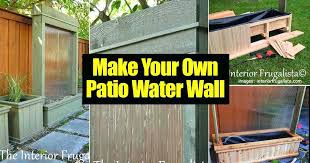 how to making an amazing patio water wall intended for waterfall decor 6 diy outdoor fountain water wall