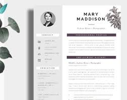 Creative Cvs Templates Cv Template Creative Resume Template Two Page Professional Etsy