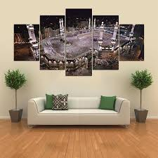Large <b>Poster HD</b> Printed Painting Canvas 5 Panel Kaaba Print Art ...