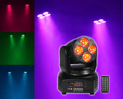 Used Moving Head Stage Lights Rockville Rockon 7 40w Rgbw Moving Head Dmx Spot Beam Stage